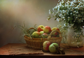 обои для рабочего стола 2198x1513 еда, Яблоки, цветы, лето, натюрморт, август, яблочный, спас, яблоки