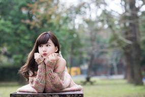 девушки, -unsort , азиатки, лето, лицо, настроение, волосы, азиатка