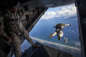 прыжок, парашют