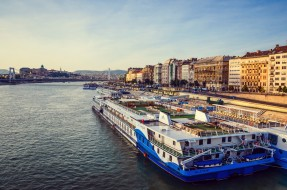 корабли, теплоходы, город, река