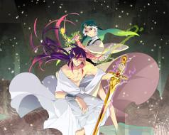 аниме, magi the labyrinth of magic, парни