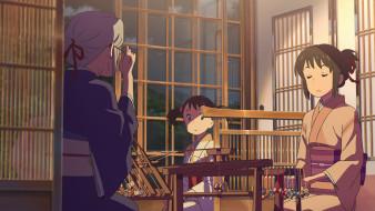 обои для рабочего стола 1920x1080 аниме, kimi no na wa, фон, взгляд, девушка