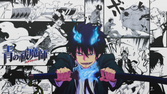 аниме, ao no exorcist, рин