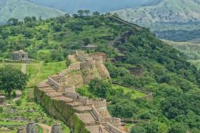 kumbhalgarh fort, города, - дворцы,  замки,  крепости, простор
