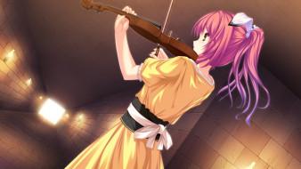 ryuuyoku on melody, аниме, фон, взгляд, девушка