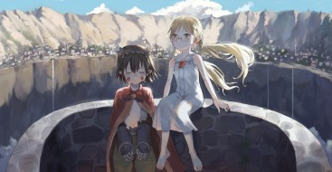 аниме, made in abyss, девушки