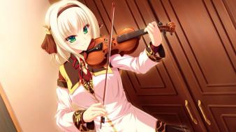ryuuyoku on melody, аниме, взгляд, девушка, фон
