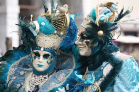 пара, карнавал, маски, костюмы