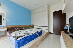 интерьер, спальня, рамка, светильник, мебель, стиль