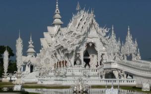 Белый, храм, Таиланд, Чианг, Рай