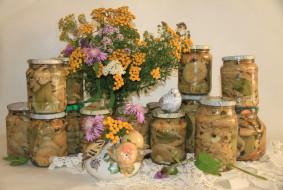 грузди, заготовки, маринад, букет, цветы, грибы