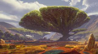 фэнтези, пейзажи, дерево
