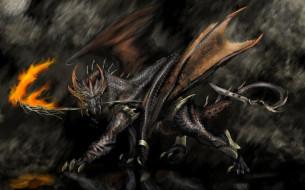 фэнтези, драконы, огонь, пламя