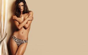 модель, Алессандра Амброзио, шторы, трусики