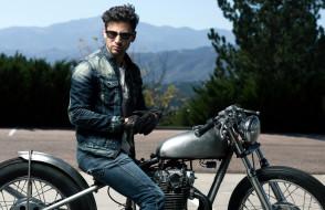 очки, перчатки, мотоцикл