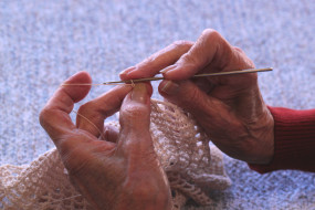 крючок, вязание, руки