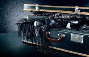 разное, одежда,  обувь,  текстиль,  экипировка, очки, чемодан, шаль
