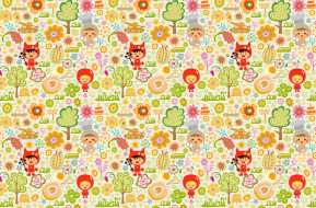 игрушки, детский, яблоко, костюмы, деревья, дети