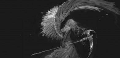 фэнтези, ангелы, ангел, смерти, мужчина, коса, готика, by, bloody-little-turd