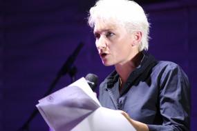 микрофон, бумага, женщина, певица