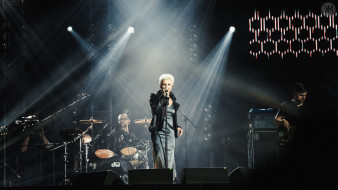 женщина, певица, концерт, микрофон, группа