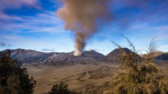 Индонезия, Ява, Извержение, вулкан