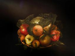 еда, фрукты,  ягоды, груши, яблоки, десерт