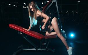 девушка, фитнес, спорт