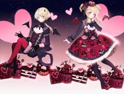 аниме, день святого валентина, дети