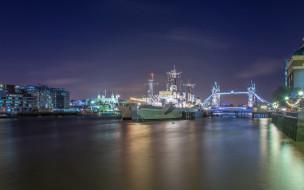 корабли, ночь, Лондон