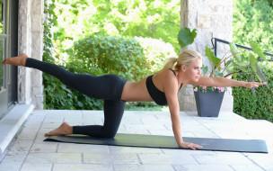 фитнес, спорт, девушка