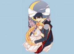 аниме, sailor moon, двое
