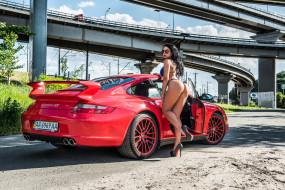 обои для рабочего стола 2560x1709 автомобили, -авто с девушками, porsche