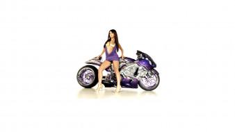 Moto Girl обои для рабочего стола 1920x1080 moto girl, мотоциклы, мото с девушкой, moto, girl