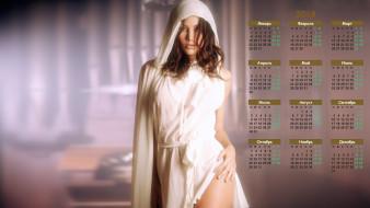 календари, девушки, капюшон, взгляд