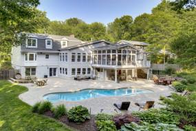 особняк, бассейн, дом