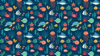 векторная графика, животные , animals, фон, рыбы