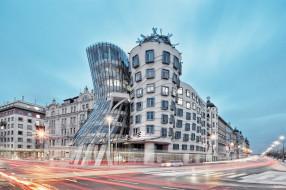 design, cityscape, architecture, The Dancing House, Prague, Czech Republic