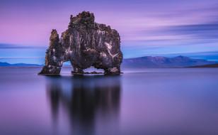 обои для рабочего стола 2048x1266 природа, горы, скала, море, горизонт, арка