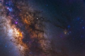 космос, галактики, туманности, звезды, млечный, путь, красота