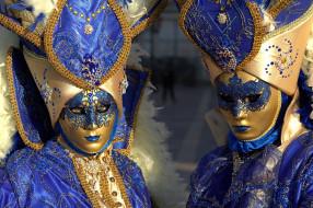 маски, Венеция, карнавал, костюмы