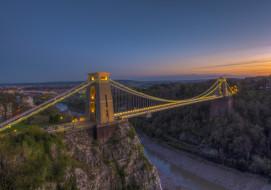 bridge bristol, города, - мосты, простор