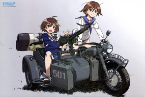 аниме, strike witches, девочки
