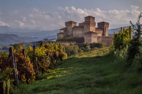 castello di torrechiara,  provincia di parma, города, замки италии, замок, виноградник