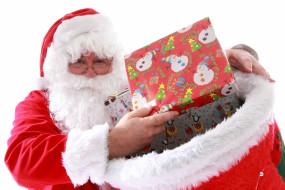 праздничные, дед мороз,  санта клаус, санта, мешок, подарки