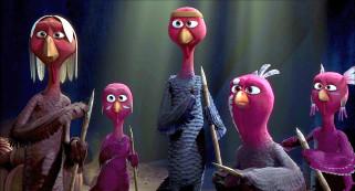 мультфильмы, free birds, палка, птица, индюк, пять, раскраска, перо