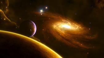 галактика, звезды, звезды, планеты, вселенная