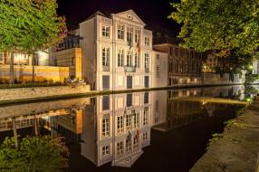 brugge,  belgium, города, брюгге , бельгия, ночь, огни