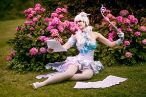 разное, cosplay , косплей, наряд, фея, девушка, модель, природа