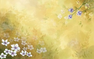 3д графика, цветы , flowers, цветы, фон